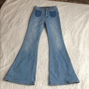 High wasted flare jeans